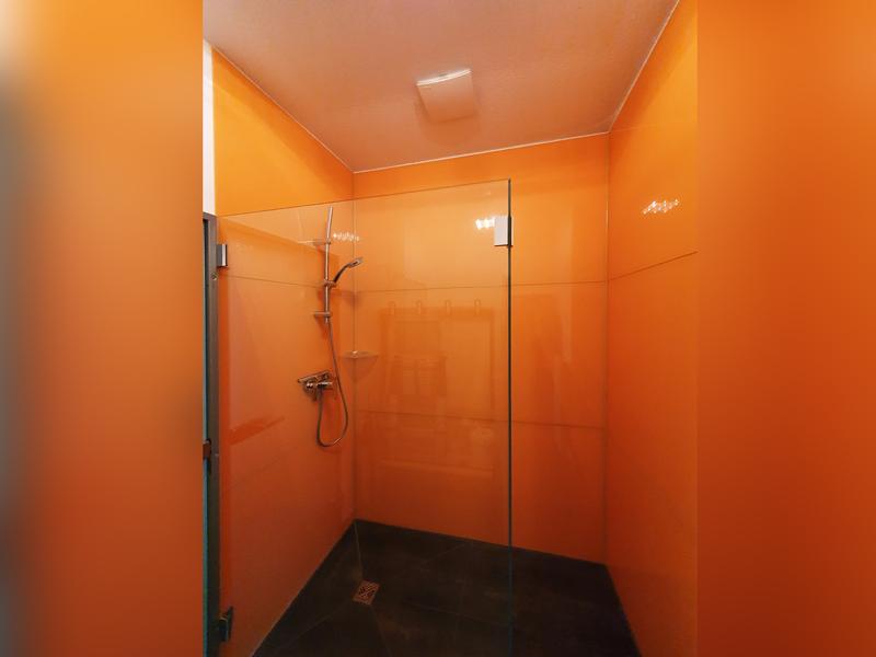 ESG klarglas Beschläge Duschkabine Walkin Dusche Duschrückwand lackeirt