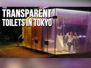 tokio smart glass öffentliche toilette
